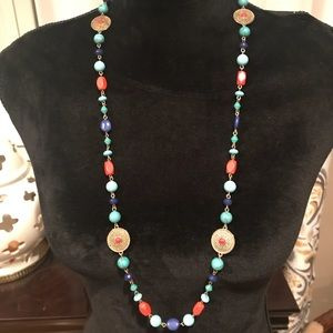 """Jewelry - 34"""" Necklace Turquoise and coral"""